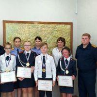 Награждение учеников кадетский класс