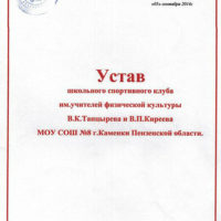 Устав школьного спортивного клуба