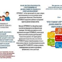 Сертификат дополнительного образования
