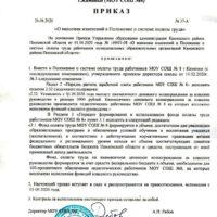 Приказ о внесении изменений в Положение о системе оплаты труда - 1